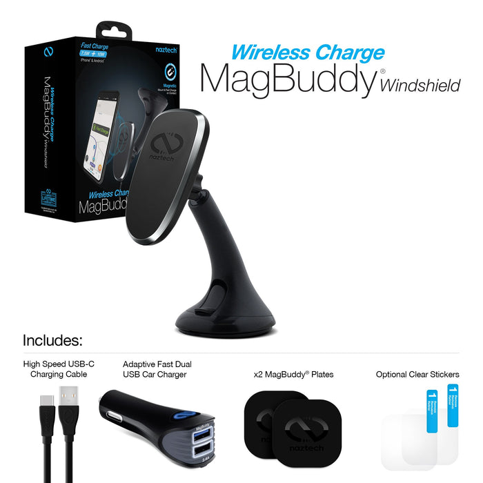 MagBuddy Wireless Charge Windshield Mount