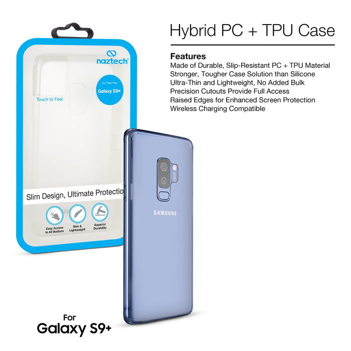 Naztech Crystal Clear Hybrid PC + TPU Case  -S9 Plus