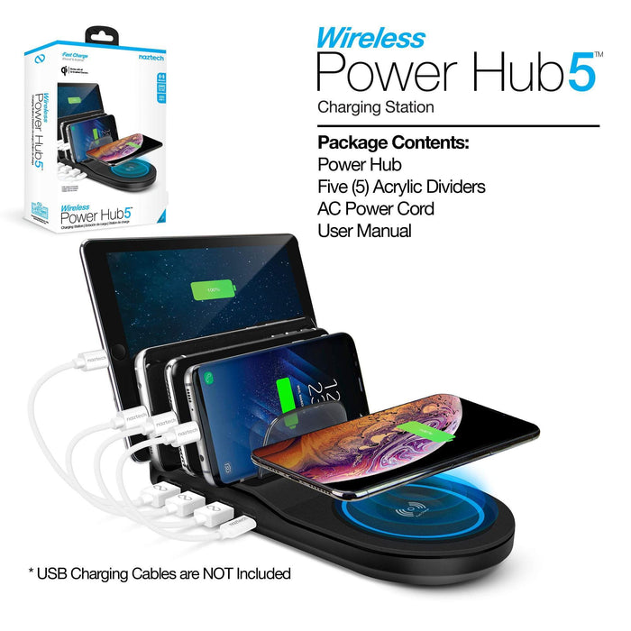 Naztech Wireless Power Hub 5 w/ FREE McDODO Smart Cable