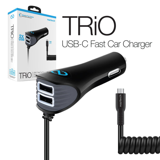 Naztech Corded TRiO USB-C Adaptive Fast Charger