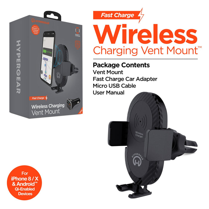 HyperGear Wireless Fast Charging Vent Mount