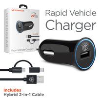 Rapid Vehicle Charger w/Hybrid Cable