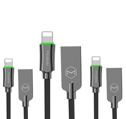 MCDODO Lightning Bolt - Smart Braided Charging Cable w/Free Turbo 3 Car Charger