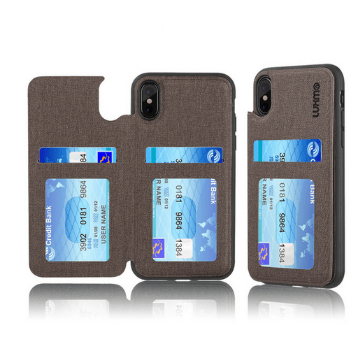 The Commuter Leather TPU Rear Flip Wallet Case -iPhone X