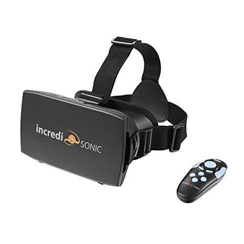 IncrediSonic VUE Series VR Glasses Virtual Reality Headset & Bluetooth Gaming Controller