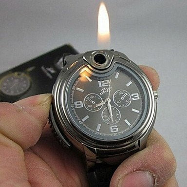 The Lighter Watch  - Quartz Watch + Butane Flame Lighter