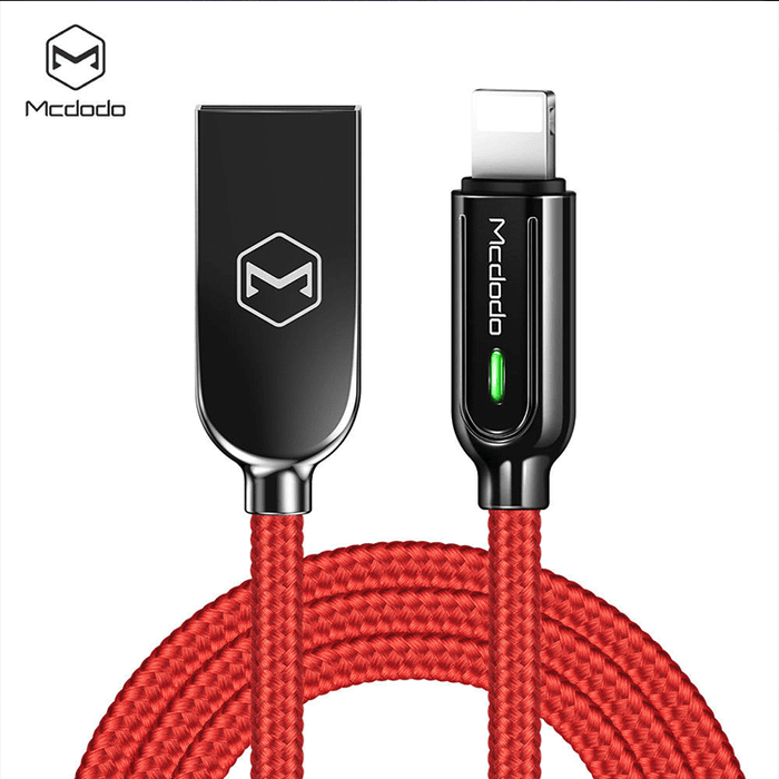 10X - MCDODO SLEEK V3 Lightning Auto Recharge Cable - 4ft Cables