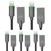 5X - 6FT  MCDODO Lightning Bolt - Smart Braided Charging Cable