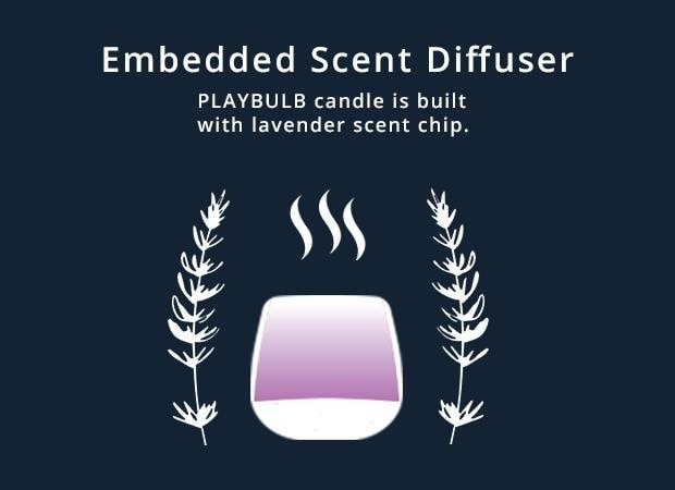 PLAYBULB Smart LED Assorted Battery Operated Multi-Color Candle Lights
