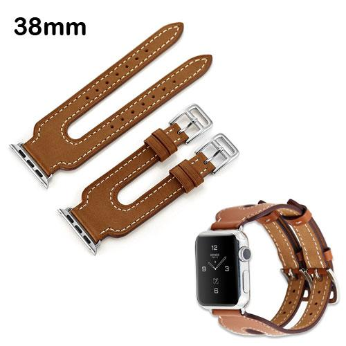 Premium Vintage Genuine Leather Double Buckle Watchband