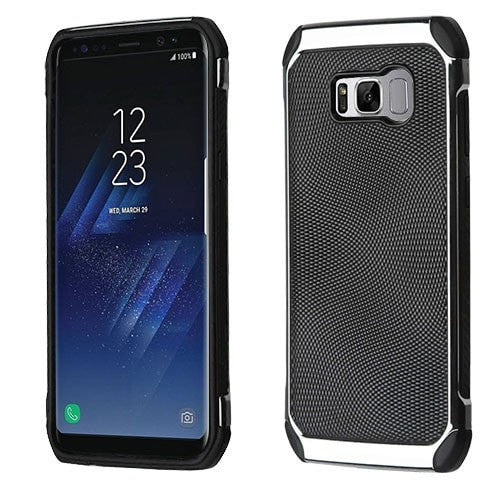 Black Dots(Silver Plating)/Black Astronoot Protector Cover-S8 PLUS