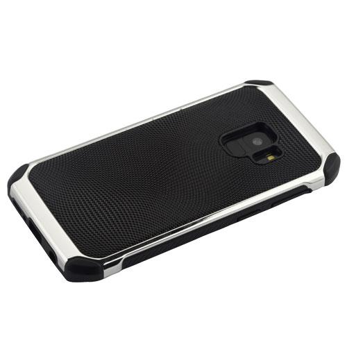 Black Dots/Silver Astronoot Protector Cover -S9 Plus