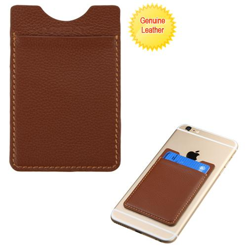 Genuine Leather Adhesive Card Pouch