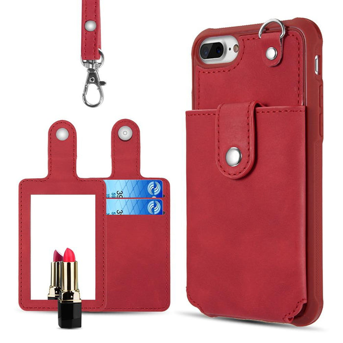 THE IN & OUT LEATHER WALLET CASE WITH DETACHABLE CARD HOLDERS -iPhone 6/6S Plus