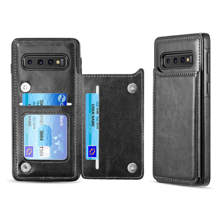 SmartFlip | Business Slim Leather With Trio Card/ID Slots | Galaxy S10