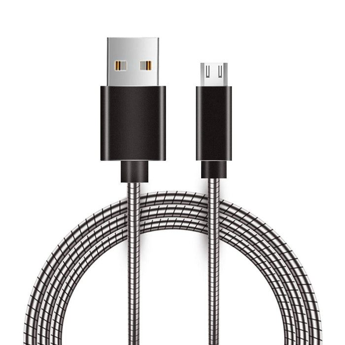 Metal Snake Cable with Aluminum Connectors 4ft - Micro