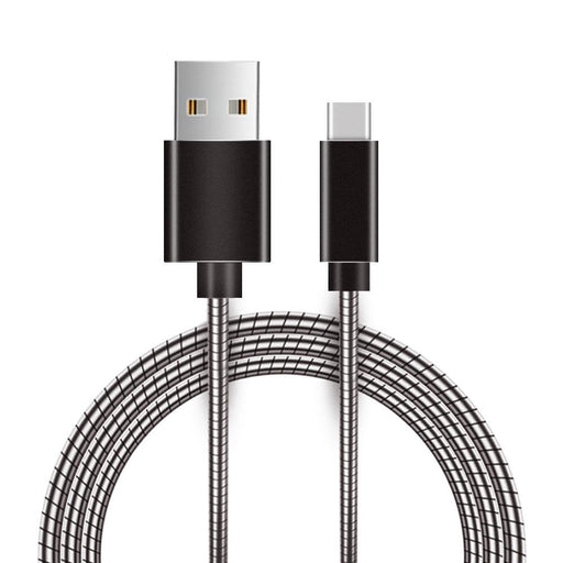 Metal Snake Cable with Aluminum Connectors 4ft - Type-C
