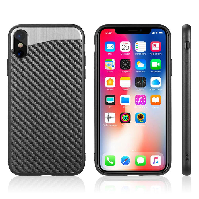 Carbon Metallic Fusion Candy Case with Carbon Fiber Finish | iPhone XS MAX