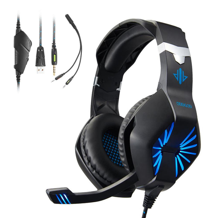 A1 Stereo Over Ear Gaming Headset 40MM Speaker And LED Light -Wired