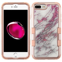 TUFF Marble Krystal Gel Hybrid Protector Cover [Military-Grade Certified] -iPhone 7/8