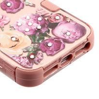 Roses (2D Rose Gold)/Rose Gold TUFF Hybrid Phone Protector -  iPhone SE