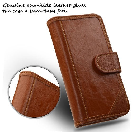 D'Lux MyJacket Wallet Case with Button Closure