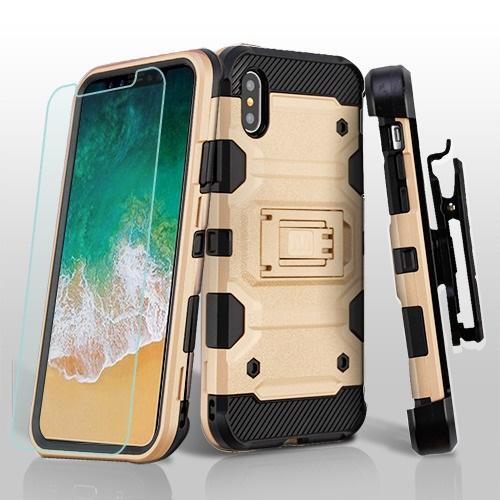 3-in-1 Storm Tank Hybrid Protector Cover Combo [Military-Grade Certified] -iPhone X/XS