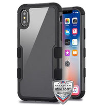 TUFF Glaze Hybrid Protector Cover [Military-Grade Certified] -iPhone X