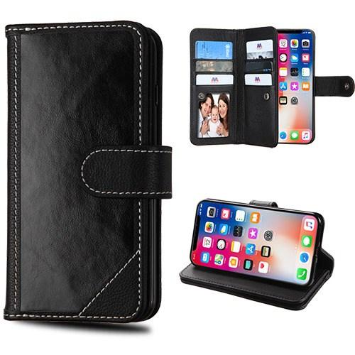 Premium Genuine Leather D'Lux Wallet (with Button Closure) -iPhone X