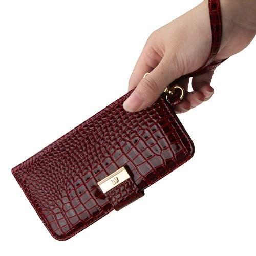 The Croc Embossed Wallet Case -iPhone X