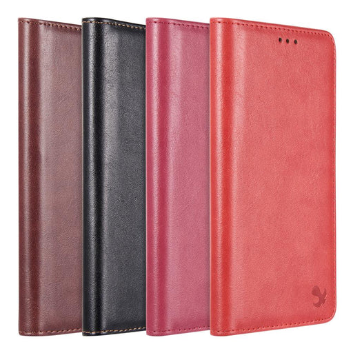 Luxury Gentleman Magnetic Flip Leather Wallet Case | Note 9