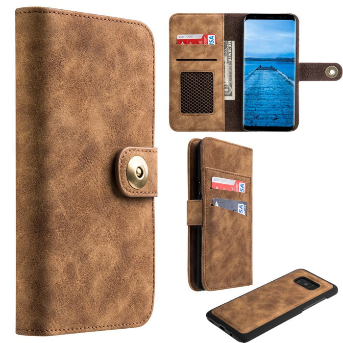 Luxury Coach Lite Series Flip Wallet | Galaxy S8