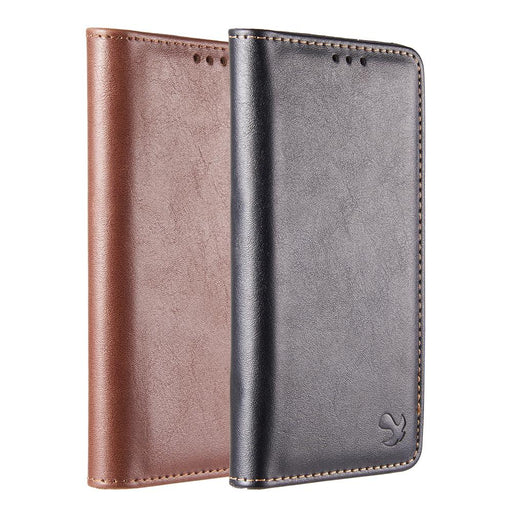 Luxury Gentleman Magnetic Flip Leather Wallet Case | S9 Plus