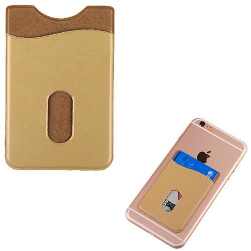 SureSleeve Leather Adhesive View Slot Card Pouch