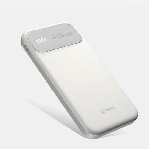 White/Grey Power Bank -6000 mAh