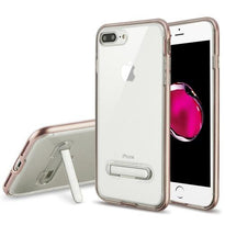 Advanced Armor Clear Hybrid Cover (with Magnetic Metal Stand) -iPhone 7/8 Plus