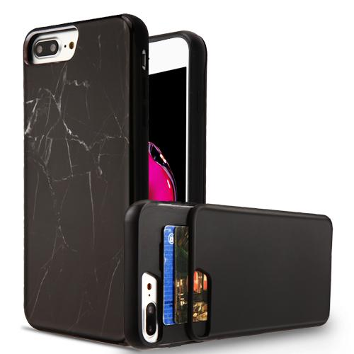 Z-Slide Wallet Hybrid Protector Cover (with Double Card Holder) -iPhone 7/8