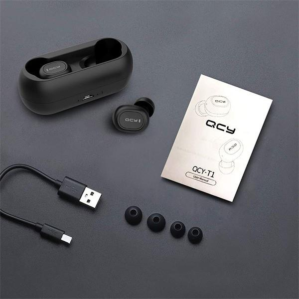 QCY PRO Mini Wireless AutoPairing Bluetooth 5.0  Dual Earbuds with Charging Base