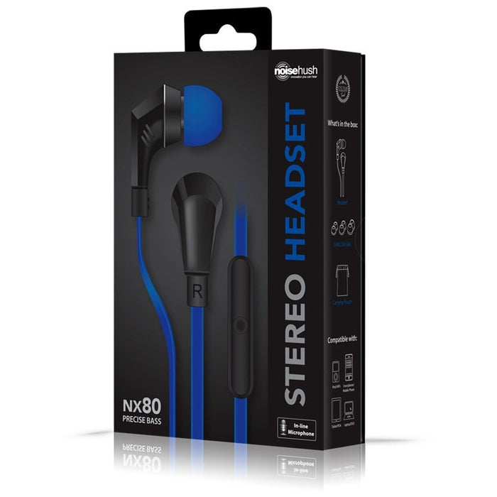 NOISEHUSH NX80 Stereo 3.5mm Headset -Wired