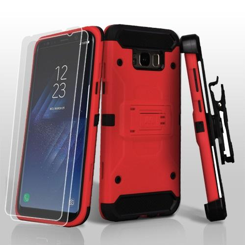 3-in-1 Kinetic Hybrid Protector Cover Combo (with Black Holster)(Twin Screen Protectors)-S8