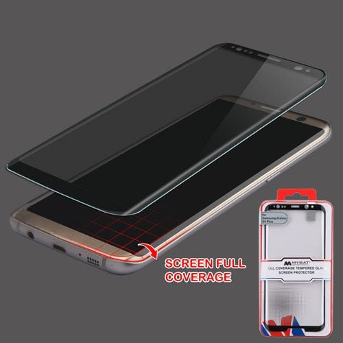 Full Coverage Tempered Glass Screen Protector/Black-S8