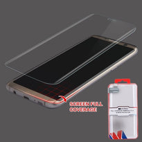 Full Coverage Tempered Glass Screen Protector/Transparent - S8 Plus