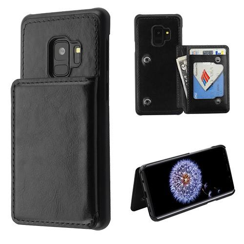 Flip Wallet Executive Protector Cover with Snap Fasteners -S9 Plus