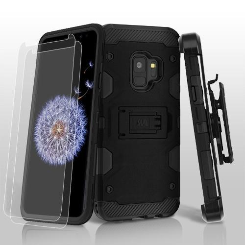 3-in-1 Storm Tank Hybrid Protector Cover Combo w/Holster (Twin Screen Protectors) -S9