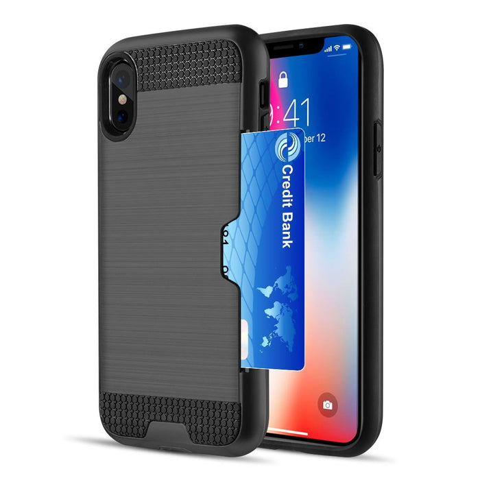 Card To Go Hybrid Case With Silk Back Plate | iPhone XS MAX