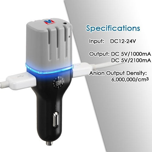 Fresh Anion Car Charger with Air Purifier