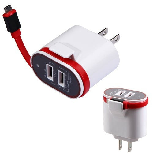 Micro USB Travel Charger with Dual USB Ports(3.1A)