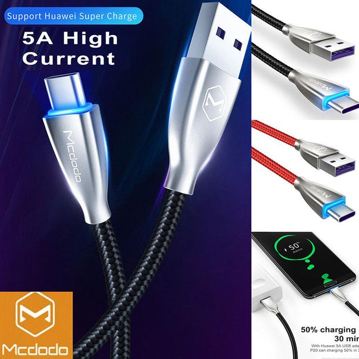 MCDODO VERGE - USB Type-C Super Charging Cable - Android