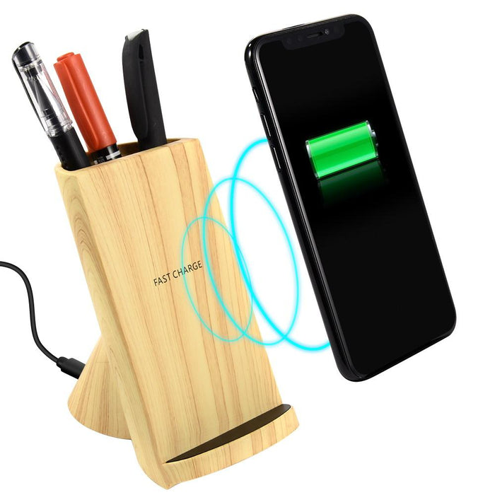 Stationary Organizer with 10W Fast Charge Qi Wireless Charger