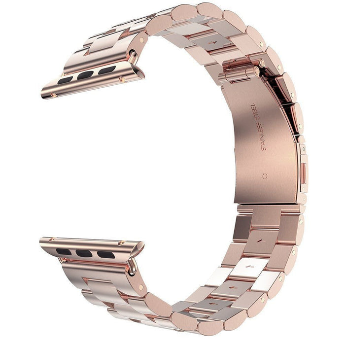 Stainless Steel Band with Clasp for Apple Watch - Rose Gold